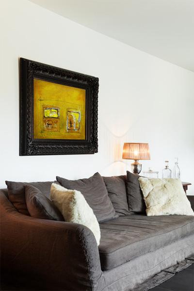 Modern Interior with Furniture and Artwork by Louis Epee